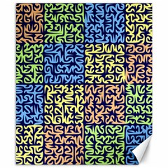 Puzzle Color Canvas 8  x 10