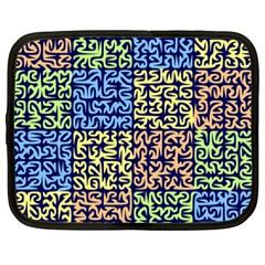 Puzzle Color Netbook Case (Large)