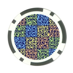 Puzzle Color Poker Chip Card Guard (10 pack)