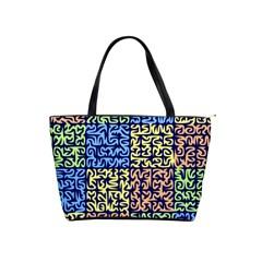 Puzzle Color Shoulder Handbags