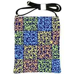 Puzzle Color Shoulder Sling Bags