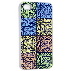 Puzzle Color Apple iPhone 4/4s Seamless Case (White)