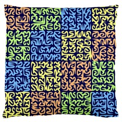 Puzzle Color Large Cushion Case (One Side)