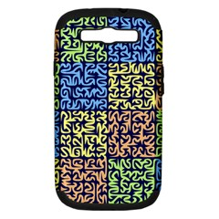 Puzzle Color Samsung Galaxy S III Hardshell Case (PC+Silicone)