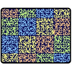 Puzzle Color Double Sided Fleece Blanket (Medium)