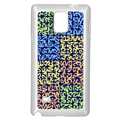 Puzzle Color Samsung Galaxy Note 4 Case (White)