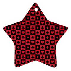Queen Hearts Card King Ornament (Star)