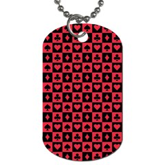 Queen Hearts Card King Dog Tag (One Side)