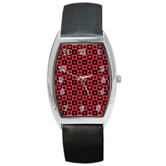 Queen Hearts Card King Barrel Style Metal Watch
