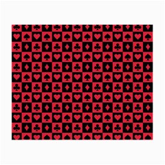 Queen Hearts Card King Small Glasses Cloth