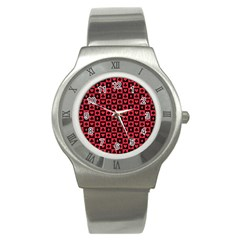 Queen Hearts Card King Stainless Steel Watch