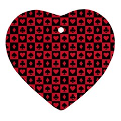Queen Hearts Card King Heart Ornament (Two Sides)