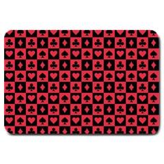 Queen Hearts Card King Large Doormat