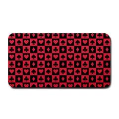 Queen Hearts Card King Medium Bar Mats