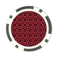 Queen Hearts Card King Poker Chip Card Guard (10 pack)