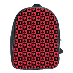Queen Hearts Card King School Bags(Large)