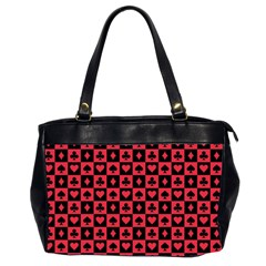 Queen Hearts Card King Office Handbags (2 Sides)