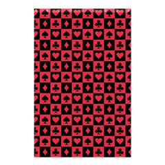 Queen Hearts Card King Shower Curtain 48  x 72  (Small)