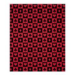 Queen Hearts Card King Shower Curtain 60  x 72  (Medium)