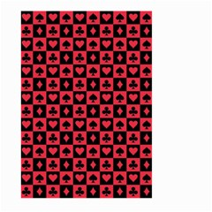 Queen Hearts Card King Large Garden Flag (Two Sides)