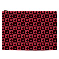 Queen Hearts Card King Cosmetic Bag (XXL)
