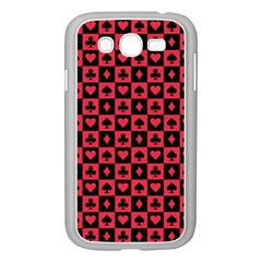 Queen Hearts Card King Samsung Galaxy Grand DUOS I9082 Case (White)