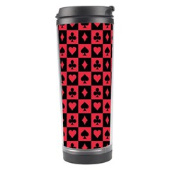 Queen Hearts Card King Travel Tumbler