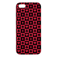 Queen Hearts Card King iPhone 5S/ SE Premium Hardshell Case