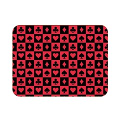 Queen Hearts Card King Double Sided Flano Blanket (Mini)