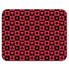 Queen Hearts Card King Double Sided Flano Blanket (Medium)