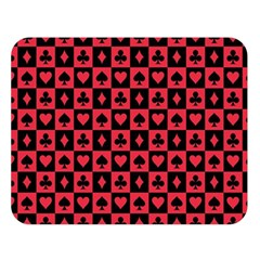 Queen Hearts Card King Double Sided Flano Blanket (Large)