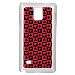 Queen Hearts Card King Samsung Galaxy Note 4 Case (White)
