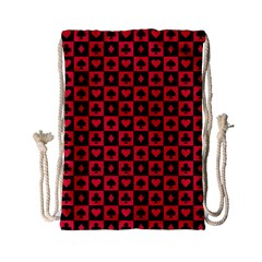 Queen Hearts Card King Drawstring Bag (Small)