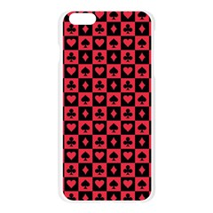 Queen Hearts Card King Apple Seamless iPhone 6 Plus/6S Plus Case (Transparent)