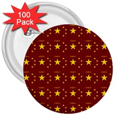 Chinese New Year Pattern 3  Buttons (100 pack)
