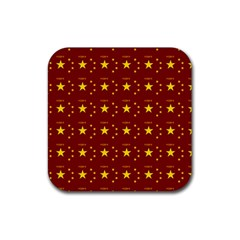 Chinese New Year Pattern Rubber Square Coaster (4 pack)