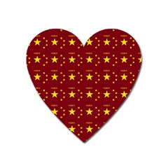Chinese New Year Pattern Heart Magnet