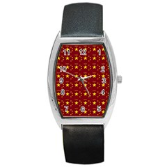 Chinese New Year Pattern Barrel Style Metal Watch