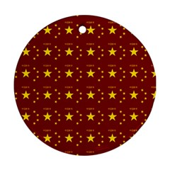 Chinese New Year Pattern Round Ornament (Two Sides)