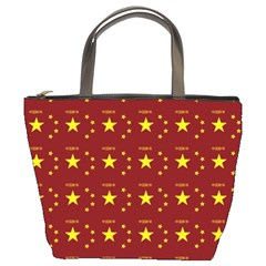 Chinese New Year Pattern Bucket Bags