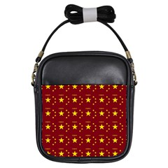 Chinese New Year Pattern Girls Sling Bags