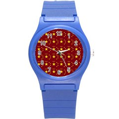 Chinese New Year Pattern Round Plastic Sport Watch (S)