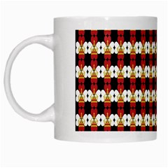 Queen Of Hearts  Hat Pattern King White Mugs