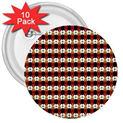 Queen Of Hearts  Hat Pattern King 3  Buttons (10 pack)