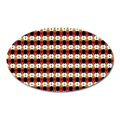 Queen Of Hearts  Hat Pattern King Oval Magnet