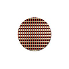 Queen Of Hearts  Hat Pattern King Golf Ball Marker (4 pack)
