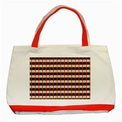 Queen Of Hearts  Hat Pattern King Classic Tote Bag (Red)