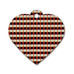Queen Of Hearts  Hat Pattern King Dog Tag Heart (One Side)