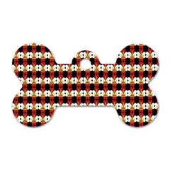 Queen Of Hearts  Hat Pattern King Dog Tag Bone (Two Sides)