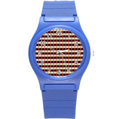 Queen Of Hearts  Hat Pattern King Round Plastic Sport Watch (S)